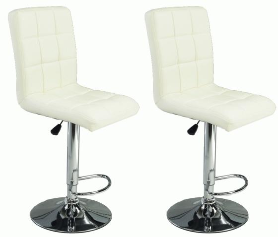 Leather adjustable hydraulic bar stools main image