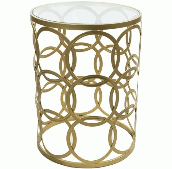 Gold Circles side table  main image