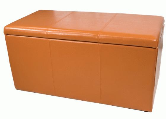 Orange Storage Bench  main image