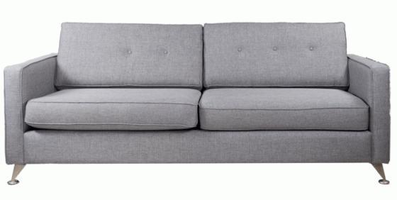 Grey Chrome Sofa  main image