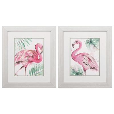Watercolor Flamingo Art main image