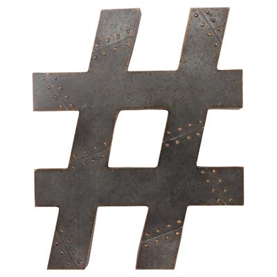 Metal Hashtag Art main image