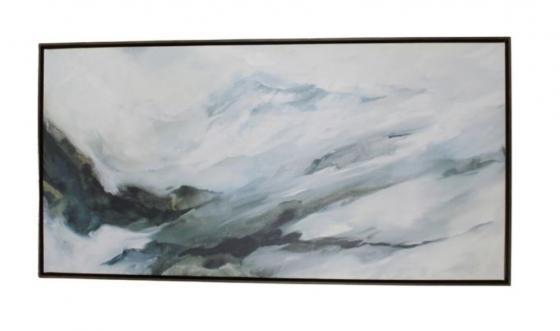 Wood Framed Canvas Abstract Art main image