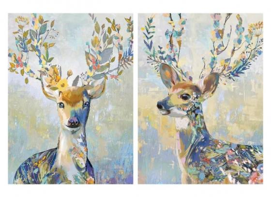 2 Pc. Deer Canvas Art main image