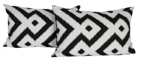 Black & White Ikat Pillows