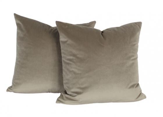 Taupe Velvet Pillows