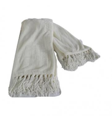 Ivory Tassel Throw main image
