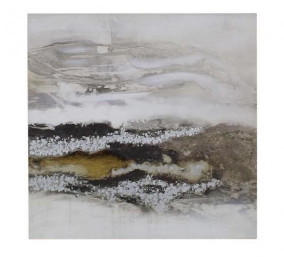 Brown & Silver Abstract Canvas main image