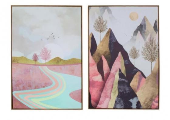 Pink Mountain Valley Art main image
