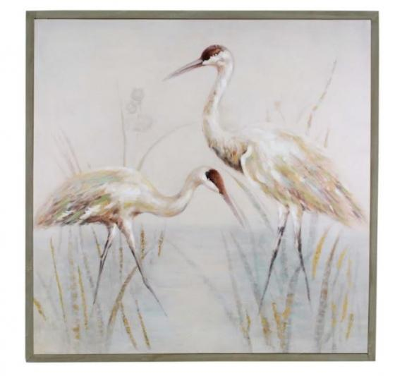 Crane Acrylic In Wood Frame main image