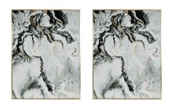 Black & Gold Abstract Art main image