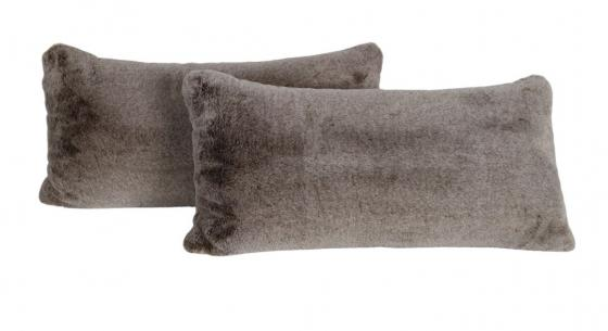 Brown Faux Fur Lumbar Pillows main image