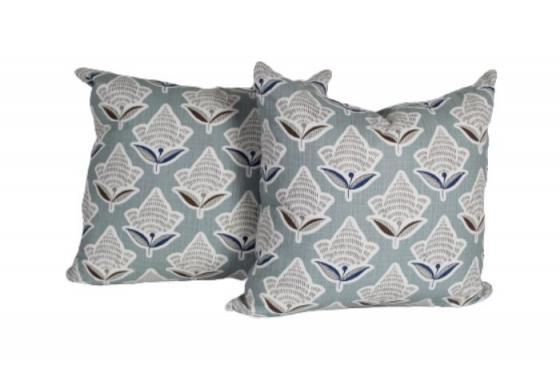 Light Blue Floral Pillows main image