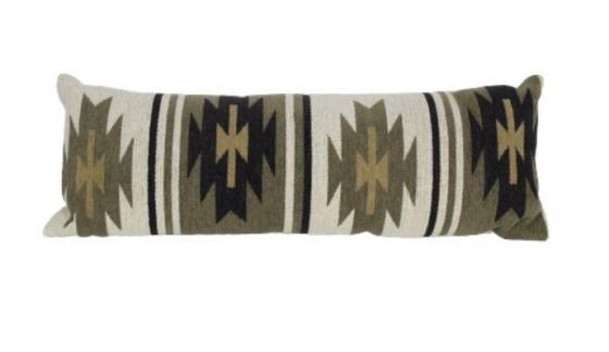 Olive Aztec Lumbar Pillow main image
