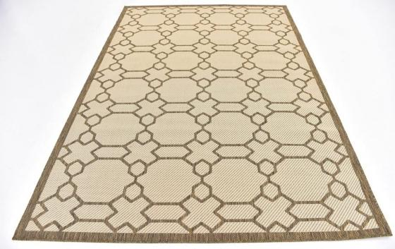 Brown & Tan Outdoor Rug