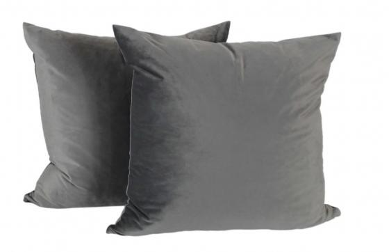 Grey Velvet Down Pillows main image
