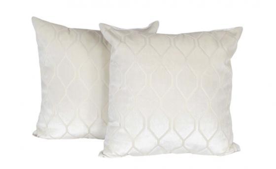 Cream Geo Velvet Pillows main image