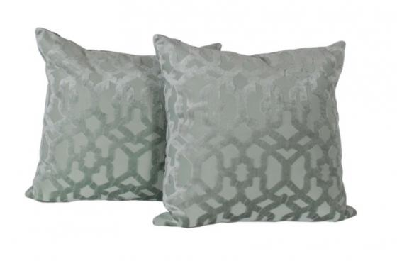 Seafoam Velvet Down Pillows main image