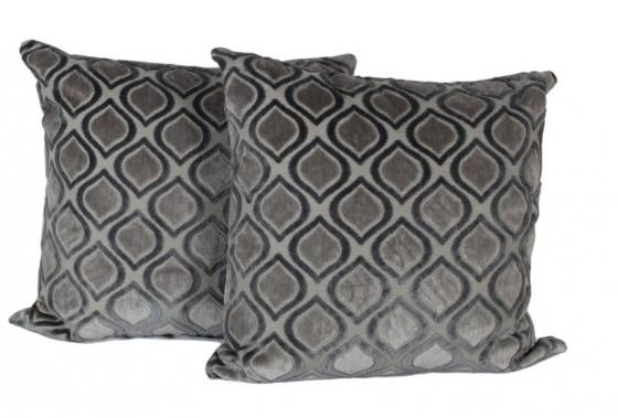 Grey Tone Geo Velvet Pillows main image