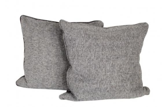 Grey Tweed Down Pillows main image