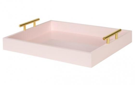 Pink Tray W/ Gold Handles main image