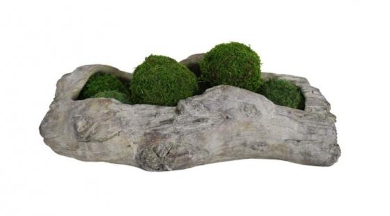 Wood Planter W/Moss Balls main image