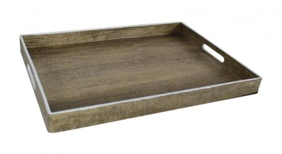 Wood Tray W/ White Trim main image