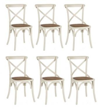 X Back Wood Bistro Dining Chairs main image