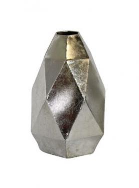 Silver Metal Geometric Vase main image