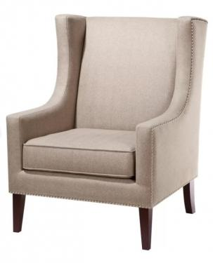 Tan Nailhead Wingback Chair main image