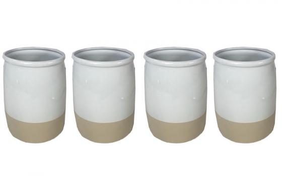 Beige and White Vases main image