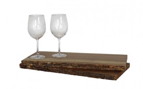 Wood Trays and Wine Glasses main image