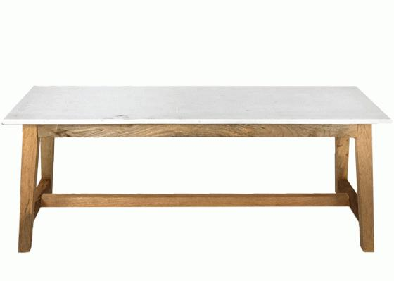 Wood Bench With Marble Top main image