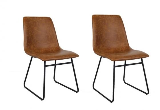 Faux Leather Dining Chairs Set of 2 main image