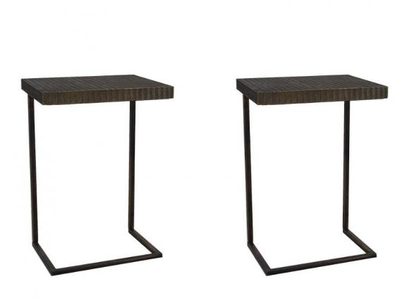 Set of 2 C Metal Side Tables main image