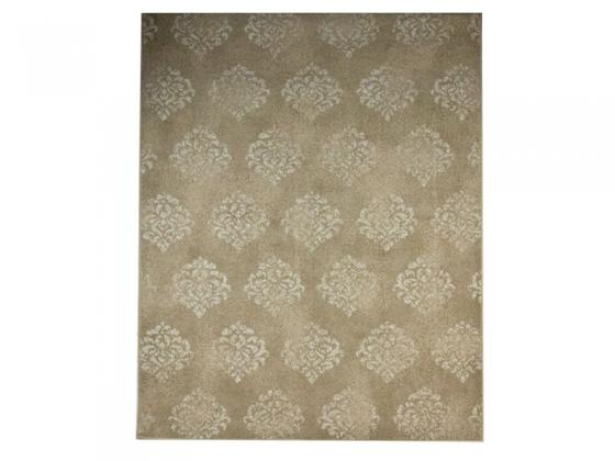 Beige & Cream Damask Area Rug main image