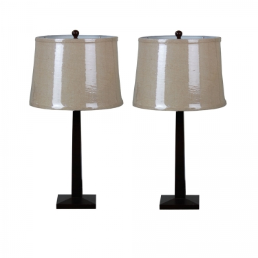 Natural Round Table Lamps main image