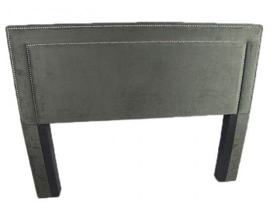Queen Upholstered Grey Headboard main image