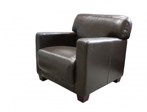 Brown Leather Club Chair main image