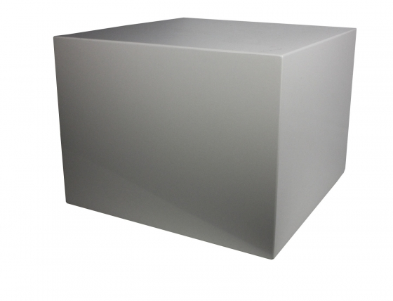 White Cube Laquer Side Table or Nightstand main image