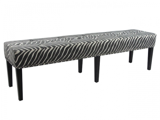 Zebra Striped Long Bench main image