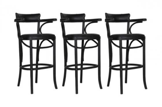 3 Black Barstools. main image