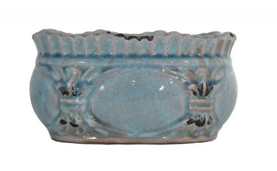 Blue Ceramic Accent Bowl