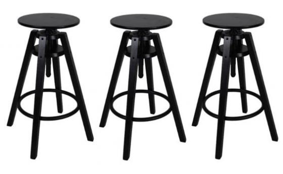 Set of 3 Swivel Barstools main image