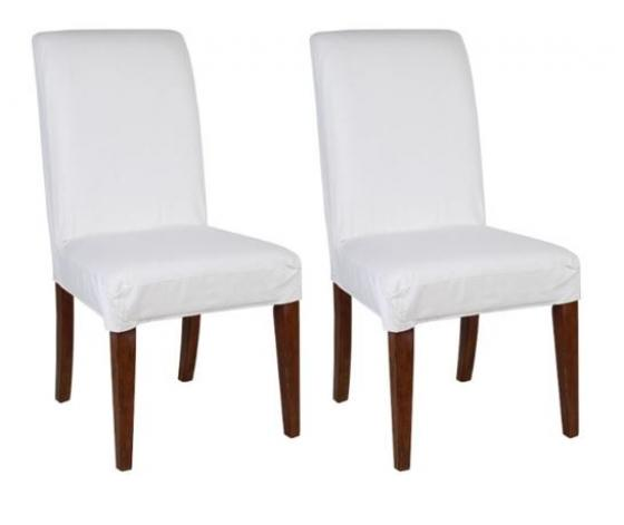 White Parson Chairs Set of 2 main image