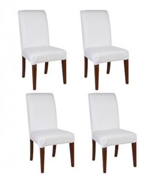 White Parson Chairs Set of 4 main image