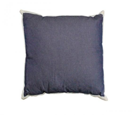 Navy w/ Cream Trim Pillow main image