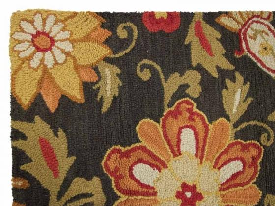 5x7 Wool Rug with Floral Design main image