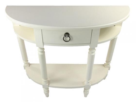 White Half-Round Table main image