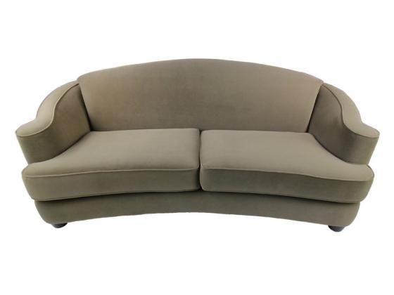 Velvet Scroll Arm Sofa main image